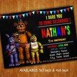 5 Nights at Freddy's Pictures Inspirational 96 Five Nights at Freddys Birthday Invitation Template Five