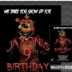 5 Nights at Freddy's Pictures Wonderful 90 Five Nights at Freddys Birthday Invitation Template Five