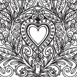 Abstract Coloring Pages for Adults Brilliant Luxury Easy Abstract Heart Coloring Pages – Dazhou
