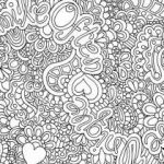 Abstract Coloring Pages for Adults Elegant Cool Coloring Page for Adult Od Kids Simple Floral Heart with Text