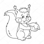 Acorn Color Pages Amazing Best Squirrel with Nut Coloring Pages – Doiteasy