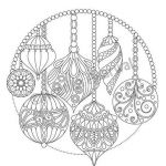 Adult Christmas Coloring Pages Beautiful Christmas Hanging ornaments Adult Coloring Page Christmas