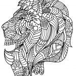Adult Coloring Book Lion Awesome Lion S Head with Plex and Beautiful Patterns From the Gallery