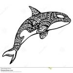 Adult Coloring Book Lion Beautiful Ethnic Animal Doodle Detail Pattern Killer Whale Zentangle