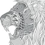 Adult Coloring Book Lion Best Coloring Pages Free Animal Mandala for Interesting Gallery Animals