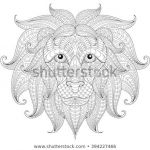 Adult Coloring Book Lion Elegant Lion Coloring Page Download Free Vector Art Stock Graphics &