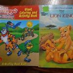 Adult Coloring Book Lion Exclusive Rare Kellogg S Team tony Giant Coloring & Activity Book Disney S