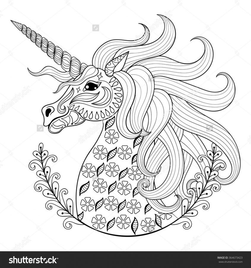 Coloring Homey Ideas Adult Coloring Pages Animal Patterns Unicorn