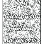 Adult Coloring Books Curse Words Inspiration Coloring Pages Swear Words Printable Adult with Word Search