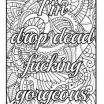 Adult Coloring Books with Swear Words Amazing 20 New Free Printable Coloring Pages for Adults Ly Swear Words