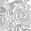 Adult Coloring Cuss Words Wonderful Coloring Page Balls Swear Word Coloring Page Adult Sheets Adult