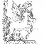 Adult Coloring Horses Elegant Snake Coloring Page Adult Coloring Page Fantasy Fairy Horse Flowers