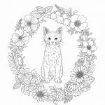Adult Coloring Pages Cat Best Harmony Nature Adult Coloring Book Pg 39