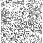 Adult Coloring Pages Cat Best Pin by Claire Lee On Adult Coloring