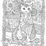 Adult Coloring Pages Cat Pretty Free Coloring Pages for Adults Cats Coloring Pages for Children