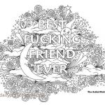 Adult Coloring Pages Fuck Awesome Coloring Page Maker Unique Bff Best Fucking Friend Ever Adult