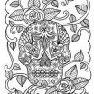Adult Coloring Pages Skull Inspiring Lovely Sugar Skull with Flowers Coloring Pages – Nicho