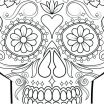 Adult Coloring Pages Sugar Skulls Awesome Coloring Pages Sugar Skull Coloring Page Printable Skulls Pages