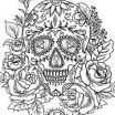 Adult Coloring Pages Sugar Skulls Fresh 254 Best Sugar Skulls Day Of the Dead Coloring Pages for Adults