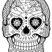 Adult Coloring Pages Sugar Skulls New Halloween Skull Coloring Pages