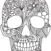 Adult Coloring Skulls Inspired Difficult Tribal Print Coloring Pages
