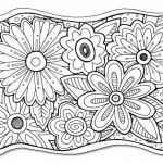 Adult Flower Coloring Pages Amazing Flower Coloring Page Freebie Coloring Books