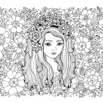 Advanced Coloring Pages Flowers Amazing Flower Girl Coloring Page Coloring Pages