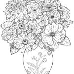 Advanced Coloring Pages Flowers Creative Advanced Coloring Pages Luxury Cool Vases Flower Vase Coloring Page