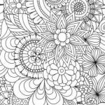 Advanced Coloring Pages Flowers Elegant √ Coloring Pages for Adults and Flowers Abstract Coloring Pages
