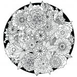 Advanced Coloring Pages Flowers Inspiration Coloring Pages for Adults Coloring Pages