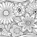 Advanced Coloring Pages Flowers Inspirational √ Flower Coloring Pages Adults and Flowers Abstract Coloring Pages