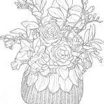 Advanced Coloring Pages Flowers Inspired Printable Coloring Pages for Adults Flowers Coloring Home