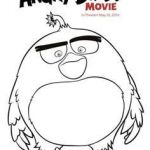 Angry Bird Color Book Inspiring Angry Birds Coloring Pages Red Bird