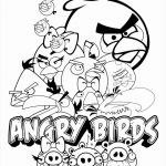 Angry Bird Colouring Best Angry Bird Coloring Pages
