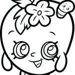 Apple Blossom Shopkin Awesome Coloring Pages Get Coloring Pages Shopkins Cookie Lippy Lips Page
