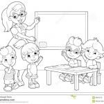 Baby Bottle Coloring Page Best Of Cartoon Scene with Children and Teacher In the Classroom Holding