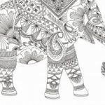Baby Elephant Color Pages Marvelous Elephant Coloring Pages Elephant Abstract Doodle Zentangle