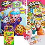 Baby Swipes Shopkin Brilliant Shopkins Coloring & Stamper Activity Book Set Include 1 Coloring