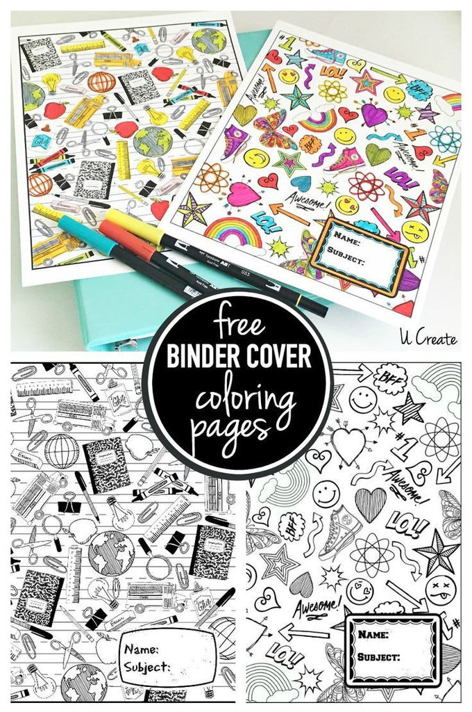 Binder Cover Coloring Pages PINS I LOVE