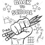 Back to School Coloring Pages Printable Wonderful Back to School Coloring Page Black Sketch isolated On White