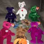 Bananas Beanie Boo Best Of Used Two Red and White Ty Beanie Baby Plush toys for Sale In Dennis