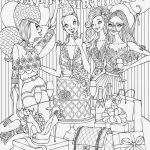 Barbie Color Sheets Awesome Awesome Free Printable Barbie Coloring Page 2019