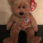 "Beanie Boo Speckles Wonderful Ty Beanie Baby ""classy"" the People S Beanie Bear Brand New W Mint"