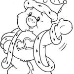 Bear Coloring Pages Awesome Care Bear King Love A Lot Bear From Care Bear Coloring Page