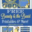 Beauty and the Beast Pictures to Print Exclusive New Free Printable Banner Alphabet