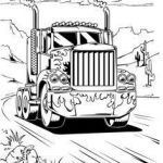 Big Trucks Coloring Pages Amazing Truck and Trailer Coloring Pages Luxury Free Printable Monster Truck