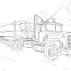 Big Trucks Coloring Pages Awesome Semi Drawing at Getdrawings