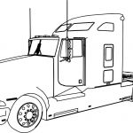 Big Trucks Coloring Pages Awesome Semi Trailer Truck Coloring Pages