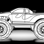 Big Trucks Coloring Pages Brilliant Coloring astonishing Truck to Color Image Inspirations