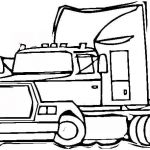 Big Trucks Coloring Pages Exclusive Semi Trailer Truck Coloring Page